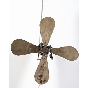 A Cast Iron and Sheet Copper Cycling Automaton Whirligig
