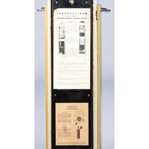 A Joseph Sinel Skyscraper International Ticket Sale Corporation Weight and Fortune Scale