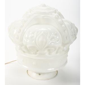 A Standard Oil Milk Glass Crown Globe