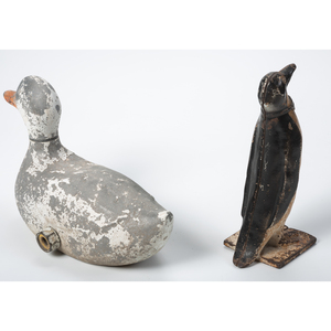 Two Cast Metal Figural Articles