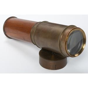A G. & S. Merz Mahogany Veneered and Brass Telescope