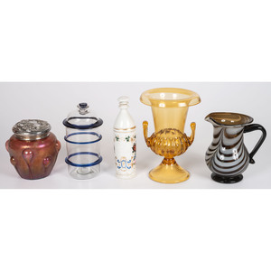A Group of Victorian and Modern Glass Articles