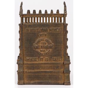 "A Cast-Iron ""M & L Jarmulowsky Banking House"" Architectural Bank"