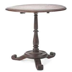 A Miniature Tilt-Top Tea Table in Mahogany