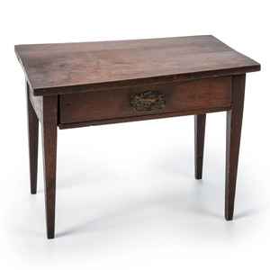 A Miniature One-Drawer Table in Walnut