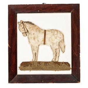 A Folk Art Mixed-Media Horse Portrait