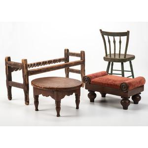 Four Pieces of Miniature Furniture