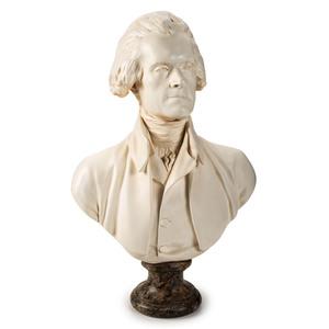 A Parian Bust of Thomas Jefferson, Alva Studios, 1957