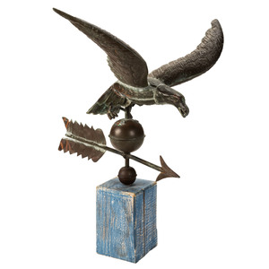 A Molded Copper and Cast Zinc Eagle Weathervane, Likely New England