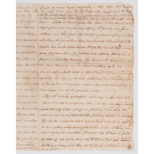 [SLAVERY & ABOLITION]. Civil War letter from Wayside Hospital, Lynchburg, 1863.
