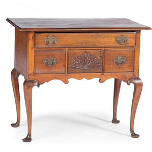 A Queen Anne Fan-Carved Cherrywood Dressing Table, Likely Connecticut, Circa 1760