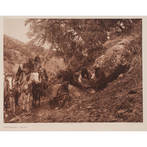 CURTIS, Edward (1868-1952). Story Telling Apache.  (Plate 11).