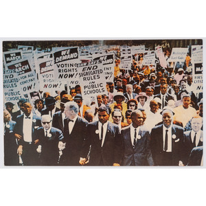 [CIVIL RIGHTS]. Postcard documenting March on Washington for Jobs and Freedom. Nutley, NJ: Malloy Bro., 1963.