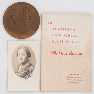 [AFRICAN AMERICANA]. A group of 4 items related to Armstrong High School graduates and reunion. Richmond, VA, 1940s-1950s.