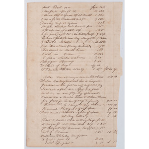 [SLAVERY & ABOLITION] Ledger recording the sale of enslaved persons, n.p., n.d.