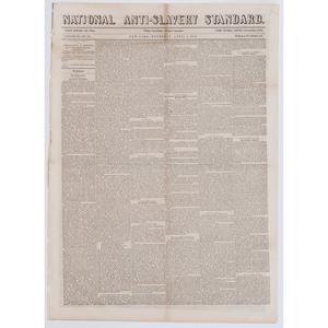 [AFRICAN AMERICANA - SLAVERY & ABOLITION] Daily National Intelligencer. Vol. XL, No. 12243. Washington, DC: Gales & Seaton, 28 May 1852.