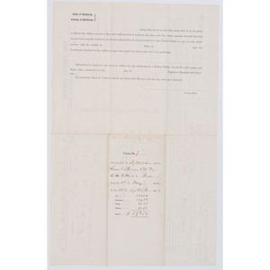 [AFRICAN AMERICANA -- CIVIL WAR] Pay document recording the loaning of horses and a