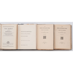 DU BOIS, William Edward Burghardt (1868-1963). A group of 4 works, comprisng
