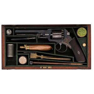 Fine Cased Webley Wedge Frame Revolver