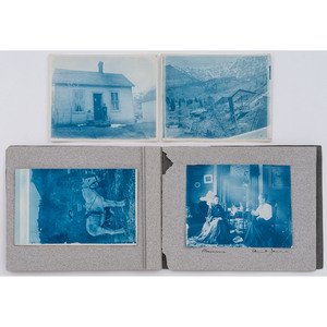 [WESTERN AMERICANA]. Photographs of Box Canyon, Colorado, including cyanotypes.