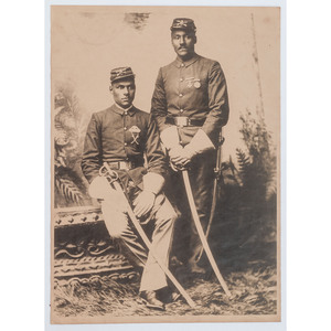 [AFRICAN AMERICANA] -- [MILITARIA]. Photograph of African American soldiers.