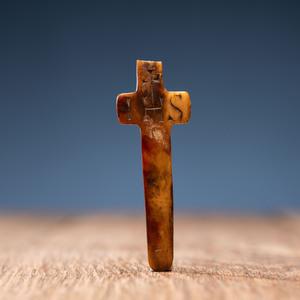 Carved Bone Crucifix