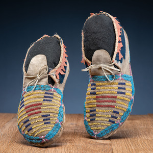 Northern Plains Beaded Soft-Soled Moccasins