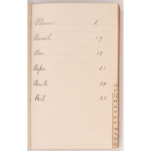 [POLITICS - 1892 PRESIDENTIAL ELECTION]. A pair of manuscript code books related to elections in Alabama, ca 1892.