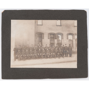 [AFRICAN AMERICANA] -- [PHOTOGRAPHY - OCCUPATIONAL]. Photograph of early African American police officers. N.p., [ca 1890s-1900s].