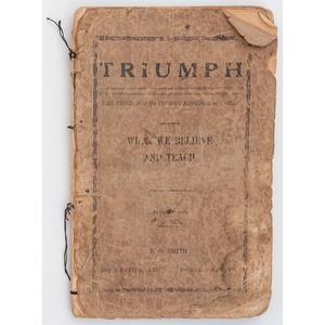 [AFRICAN AMERICANA]. Religious and fraternal booklets.
