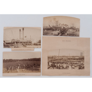 [AFRICAN AMERICANA]. MUGNIER, George Francois (1855-1936), photographer. A group of 4 albumen photographs, incl. steamships and African American subjects. New Orleans, [ca 1880].
