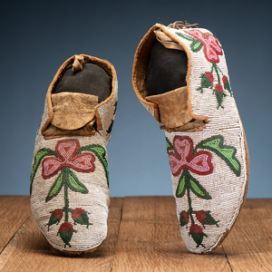 Cree Beaded Hide Moccasins