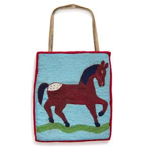 Plateau Beaded Flat Bag, with Appaloosa Horse