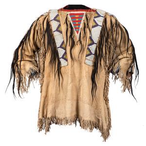 Northern Plains Beaded Hide Shirt