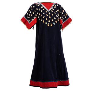 Apsáalooke Trade Wool Dress, with Bone Carved Elk Teeth