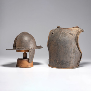 17th Century Pot Helmet, Breastplate