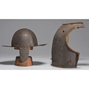 17th Century Pot Helmet, Breastplate