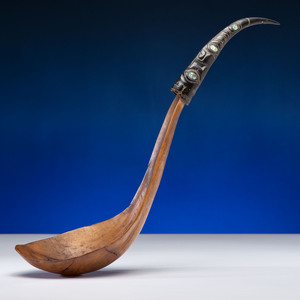 Chilkat Horn Feast Ladle, Collected by Captain Michael A. Healy
