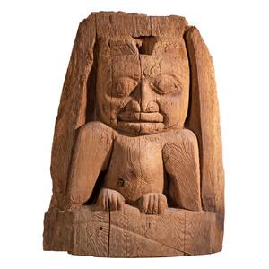 Tsimshian Carved Wood Totemic Fragment