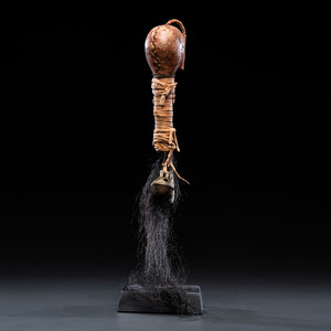 Plains Hide Rattle, with Incised Decoration, From the Collection of Dick Jemison, Alabama