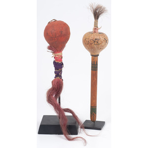 Pair of Plains Rattles, From the Collection of Dick Jemison, Alabama