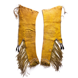 Kiowa Beaded Hide Leggings