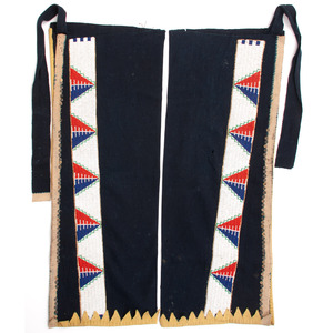 Sioux Wool Leggings, with Beaded Strips