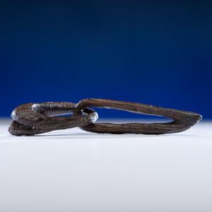 Ipiutak Culture, Fossilized Ivory Effigy Chain Link