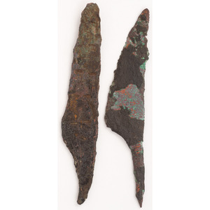 A Pair of Old Copper Culture Knives