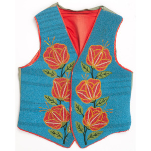 Plateau Beaded Vest, with Poppies