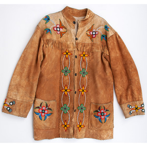 Northern Plains Beaded Smoke-Tanned Hide Coat