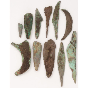 A Group of Old Copper Culture Tools