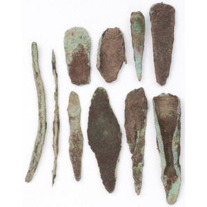 A Variety of Old Copper Culture Tools