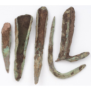 Old Copper Culture Fish Hooks and Socketed Points